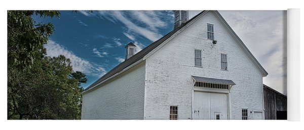 Yoga Mat featuring the photograph Freeport Barn by Guy Whiteley