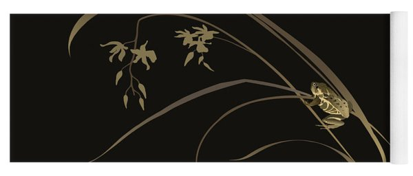 Frog And Orchid Yoga Mat