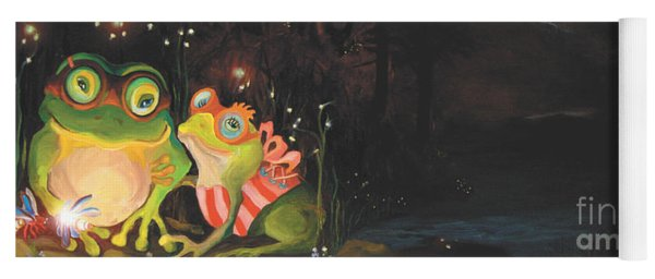 Frogs Of Silver Lake Yoga Mat