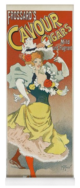 Frosards Cavour Cigars, 1895 French Vintage Poster Yoga Mat