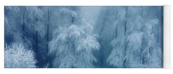 Frozen Forest Yoga Mat