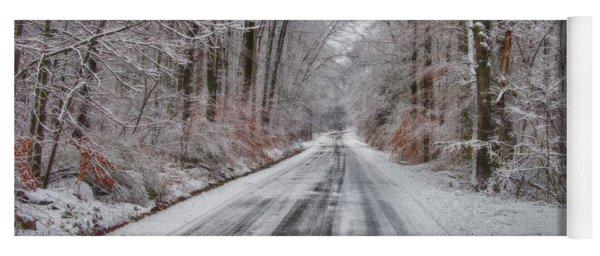 Frozen Road Yoga Mat
