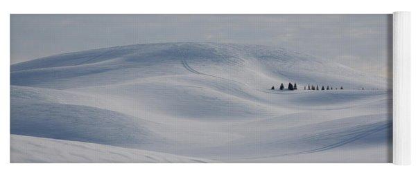 Frozen Winter Hills Yoga Mat