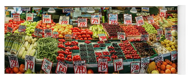 Fruits And Vegetables For Sale At Pike Yoga Mat