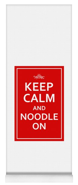 Fsm - Keep Calm And Noodle On Yoga Mat