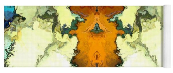 Yoga Mat featuring the digital art Fuego  by A z Mami