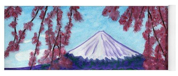 Fuji Mountain And Sakura Yoga Mat