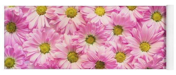 Full Of Pink Flowers Yoga Mat