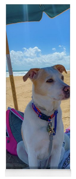 Yoga Mat featuring the photograph Fun Doggie Day At The Beach by Lora J Wilson
