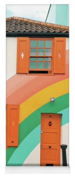 Funky Rainbow House Yoga Mat
