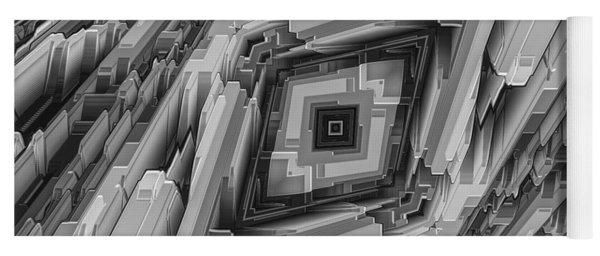 Futuristic Metallic Structure Yoga Mat