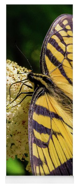 Yoga Mat featuring the photograph Fuzzy Butterfly by Lora J Wilson