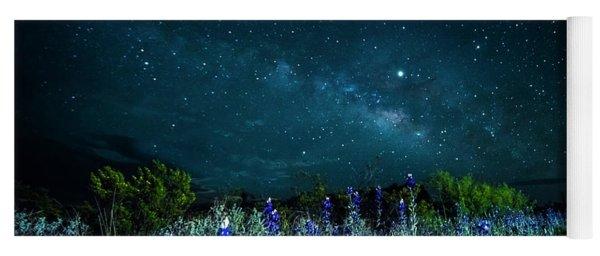 Galactic Bluebonnets Yoga Mat