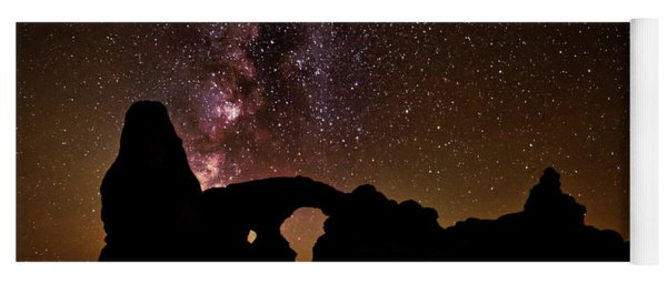 Yoga Mat featuring the photograph Galactic Turret Arch by Andy Crawford