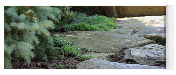 Garden Landscape - Stone Stairs Yoga Mat