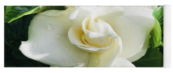Gardenia Closeup Square Yoga Mat