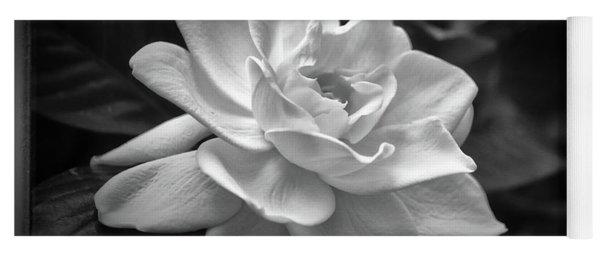 Gardenia In Black And White Yoga Mat