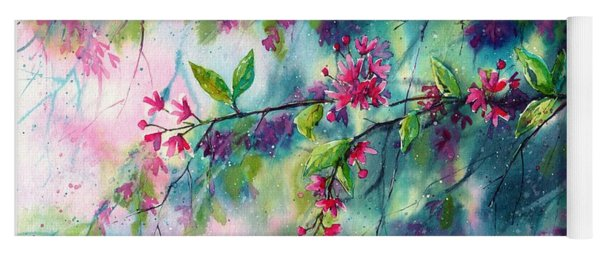 Garlands Full Of Flowers Yoga Mat