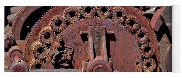 Gears/gears And Rust Yoga Mat