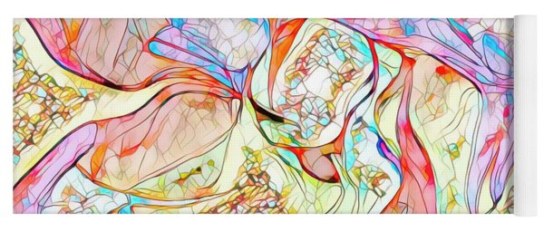 Yoga Mat featuring the digital art Gene Therapy by Mike Braun