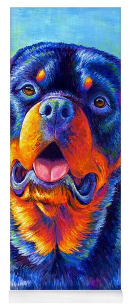 Gentle Guardian Colorful Rottweiler Dog Yoga Mat
