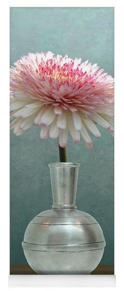 Gerbera Daisy In Pewter Vase Yoga Mat