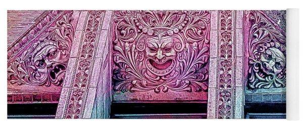 Ghoulish Gargoyles Abstract Yoga Mat