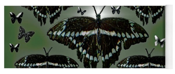 Yoga Mat featuring the photograph Giant Swallowtail Butterflies by Rockin Docks Deluxephotos