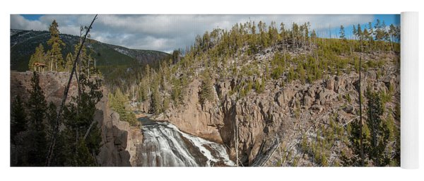 Yoga Mat featuring the photograph Gibbon Falls In Yellowstone by Mark Duehmig