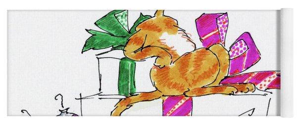 Ginger Cat's Christmas Yoga Mat