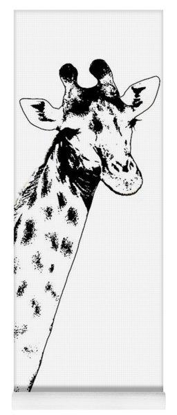 Giraffe In Black And White Yoga Mat