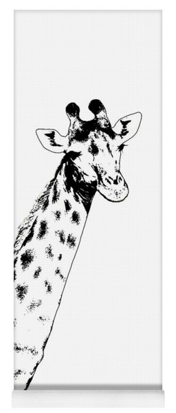 Giraffe In Black And White Yoga Mat