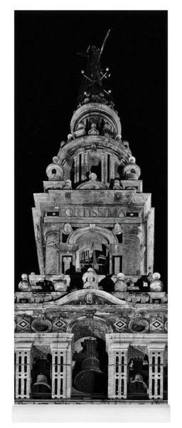 Giralda Tower In Monochrome. Seville Yoga Mat