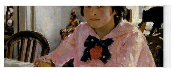 Girl With Peaches - Portrait Of V.s. Mamontova Yoga Mat
