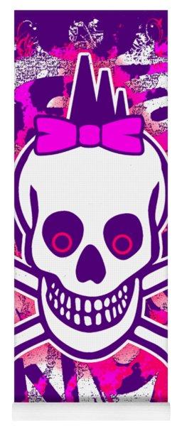 Girly Punk Skull Graphic Yoga Mat