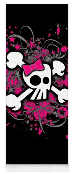 Girly Skull Crossbones Graphic Yoga Mat