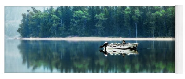 Glacier National Park Lake Reflections Yoga Mat