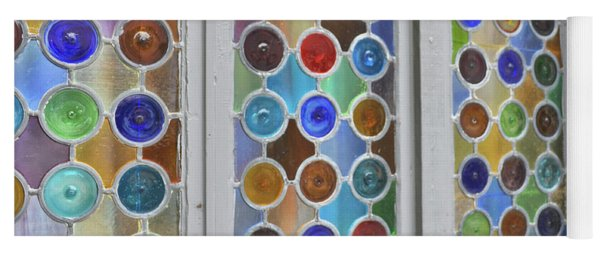 Yoga Mat featuring the photograph Glass Circles by Jamart Photography