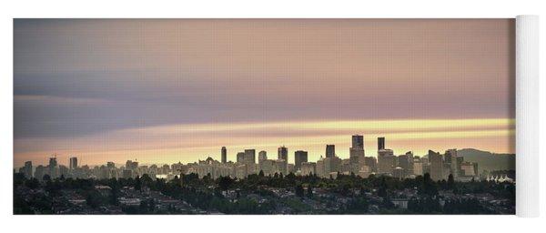 Gloden Sky On Vancouver Yoga Mat