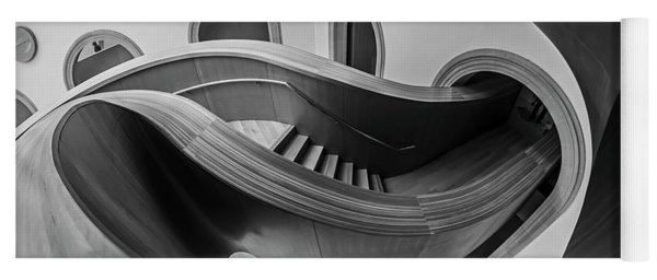 Glorious Wooden Winding Stairs  Yoga Mat