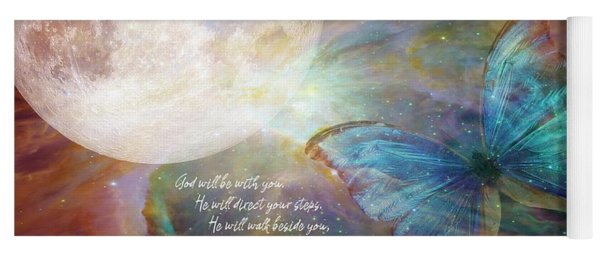God Will Be With You Yoga Mat