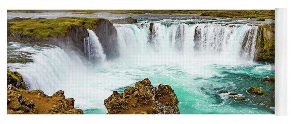 Godafoss Waterfall, Iceland Yoga Mat