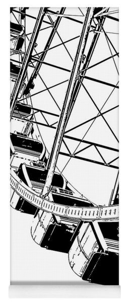 Going Up On The Big Wheel Yoga Mat