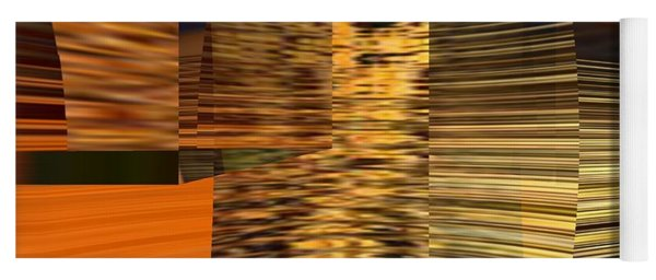 Yoga Mat featuring the digital art Gold  by A z Mami