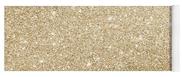 Gold Glitter Yoga Mat