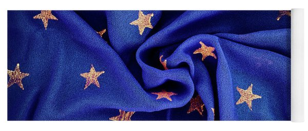 Yoga Mat featuring the photograph Gold Stars Blue by Tim Gainey