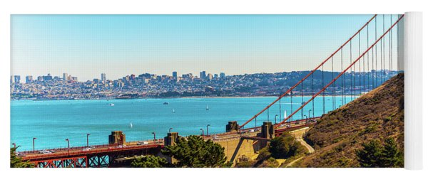 Golden Gate Bridge And San Francisco Skyline Yoga Mat