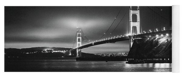 Golden Gate Bridge B/w Yoga Mat