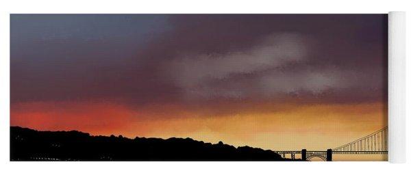 Golden Gate Sunset Yoga Mat