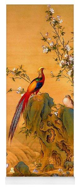 Golden Pheasants In Spring Yoga Mat